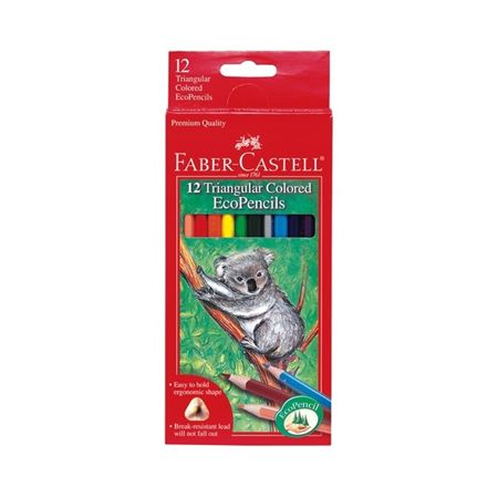 Faber-Castell Triangular Colored EcoPencils 12/Pack