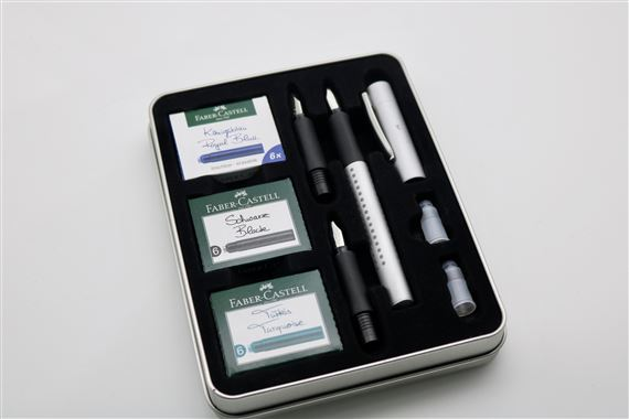 Faber-Castell 2011 Grip Calligraphy Tin Set
