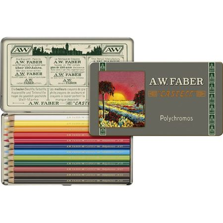 Faber-Castell 111th Anniversary Color Pencils Tin 12 Set
