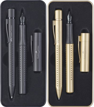Faber-Castell Grip 2011 Ballpoint Pen/Fountain Pen Set M nib