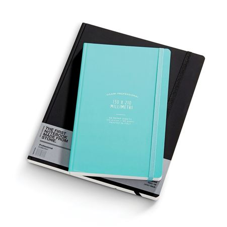 Ogami Repap Stone Paper Black Hard Cover Notebook 8 x 10