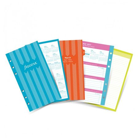 Filofax 2017 Personal Stripes Diary Pack