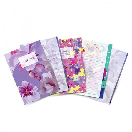 Filofax 2017 A5 Floral Diary Pack Refill