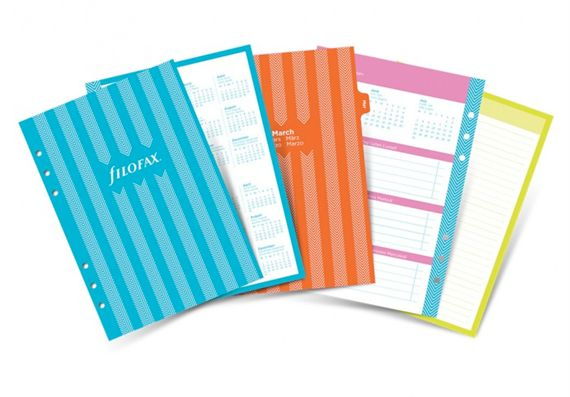 Filofax 2017 A5 Stripes Diary Pack Refill