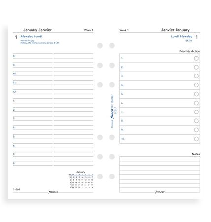 FILOFAX Personal DAY ON TWO PAGES English/French  LANGUAGES 2021