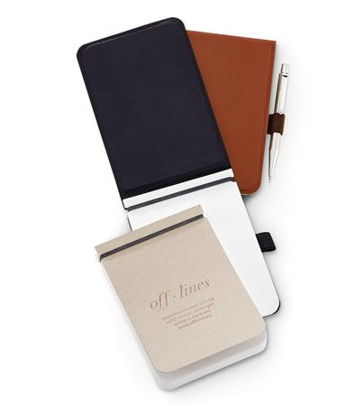 Off Lines Leather Notetaker 3 1/2 x 5