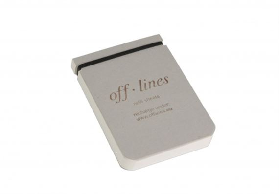 Off Lines 100 Blank Sheets refill for Notetaker