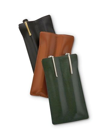 Double Leather Pen Sleeve