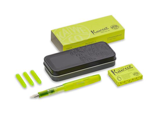 Kaweco Ice Sport Glow Highlighter Fountain Pen - Yellow