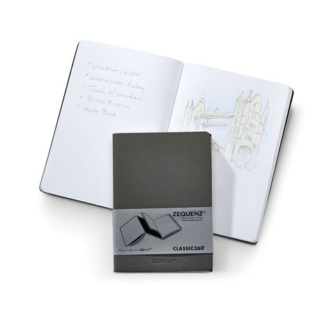 Zequenz Dual Plus Grid/Blank A6 Gray/Black Notebook