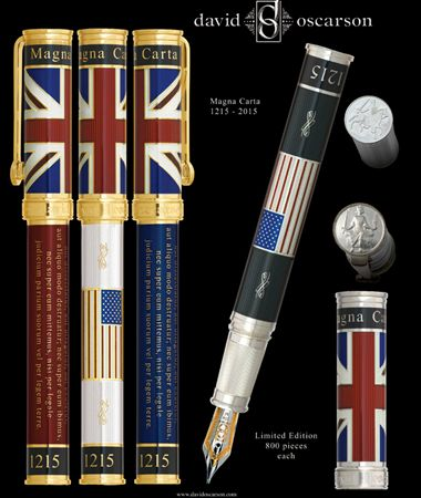 David Oscarson Limited Edition Magna Carta Fountain Pen