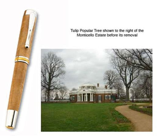 Historical Woods Jefferson Tulip Poplar Fountain Pen