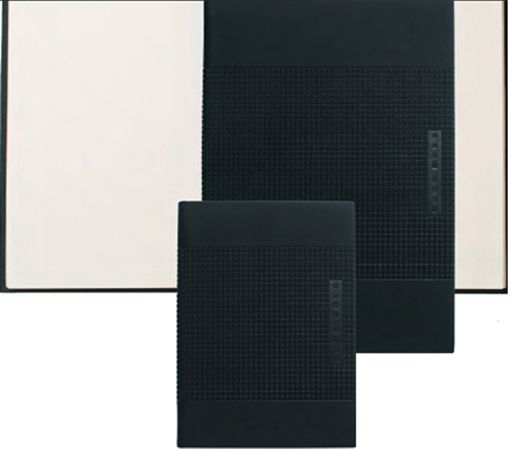 Hugo Boss A5 Grid Collection Black Notebook 6 x 8