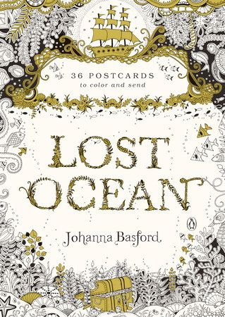 Johanna Basford Lost Ocean Coloring Postcards
