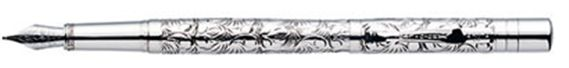 Yard-O-Led Viceroy Victorian Engraved Sterling Silver Fountain Pen