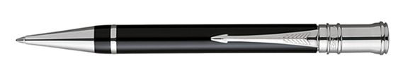 Parker Duofold Black and Platinum Ballpoint Pen