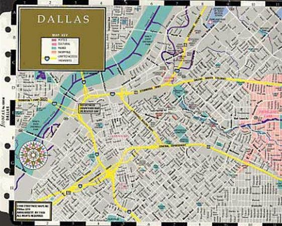 Filofax Personal Dallas/Ft. Worth Map