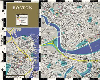 Filofax Personal Boston Map