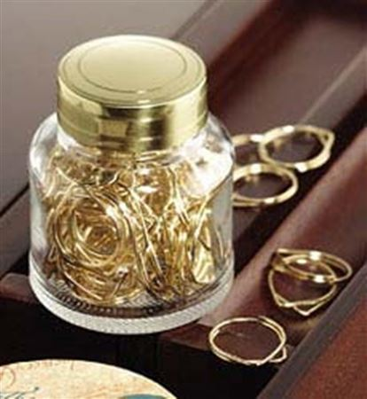Fahrney's Exclusive Clear Bottle With Polished Brass Cap and 60 Paper Clips