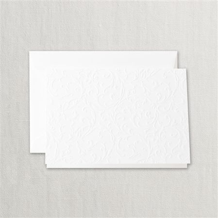 Crane Pearl White Blind Embossed Notes - 10/10