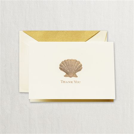 Crane Scallop Thank You Notes 10/10