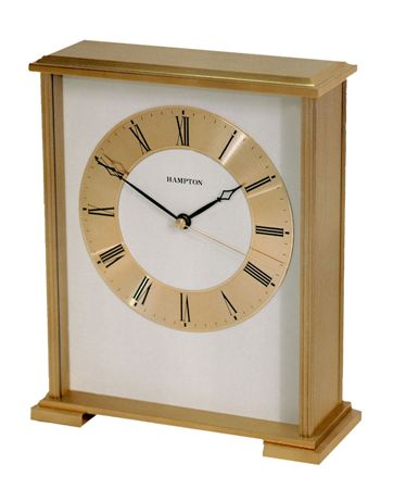 Hampton Haddon Large Rectangle Brass Clock