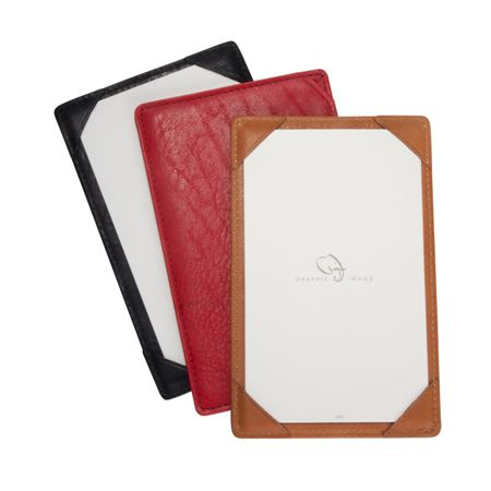 Graphic Image Leather Jotter With Note Cards