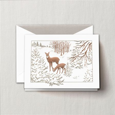 Crane William Arthur Engraved Surprise Snowstorm Greeting Card 10/10