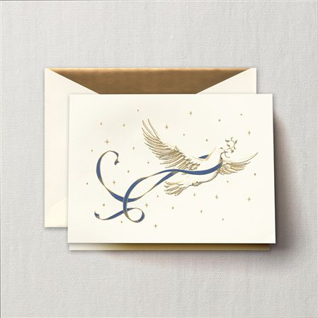 Crane Engraved Dove Greeting Card 10/10