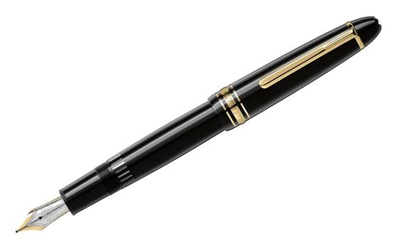 Montblanc Meisterstuck LeGrand Fountain Pen with Gold Trim - Black