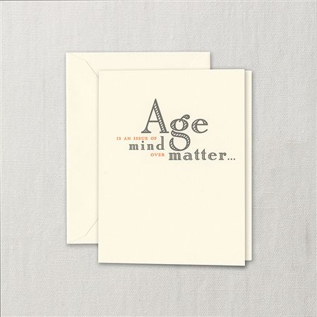 Crane Mind Over Matter Birthday Card