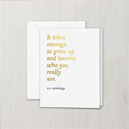 Crane It Takes Courage Birthday Card