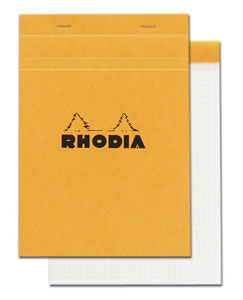 Rhodia 6 X 8 1/4 Graph Pad Orange - 3 Pack