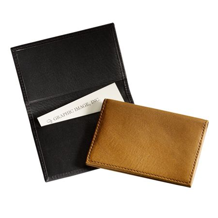 Graphic Image Fold Over Leather Card Case