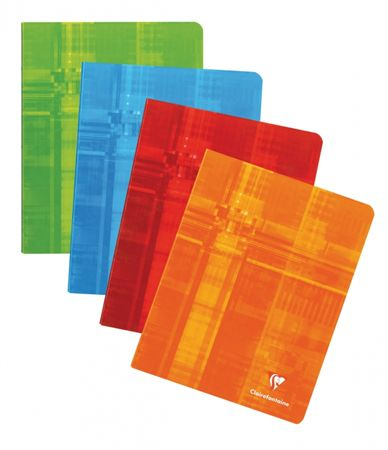 Exaclair Clairefontaine 6 1/2 X 8 1/4 French Ruled Staplebound Notepad 4/PK