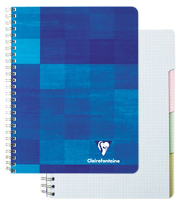 Exaclair Clairefontaine 8 1/4 X 11 Graph Notepad With 4 Tabs