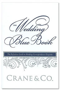 Crane's Wedding Blue Book