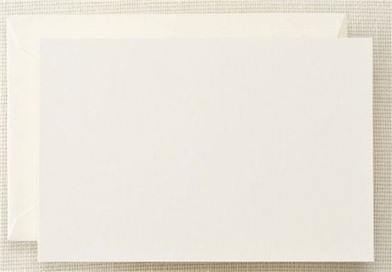 Crane Correspondence Cards 10/10 - Pearl White
