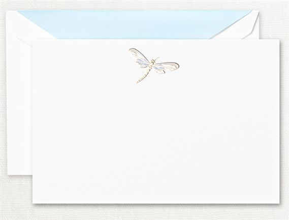 Crane Engraved Dragonfly Cards 10/10