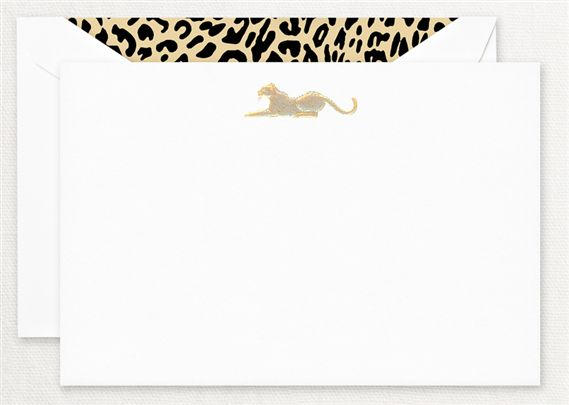 Crane Engraved Safari Leopard Cards 10/10