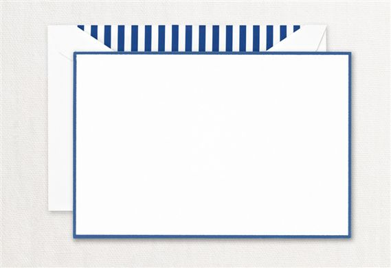 Crane Regent Blue Bordered Correspondence Card 10/10