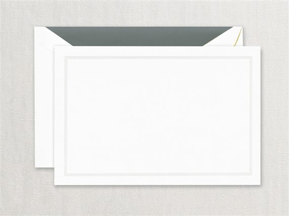 Crane Charcoal Triple Hairline Frame Correspondence Card 10/10