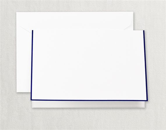 Regent Blue Bordered Pearl White Notes 15/15