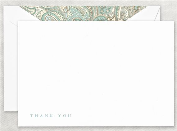 Crane Paisley Thank You Cards 10/10