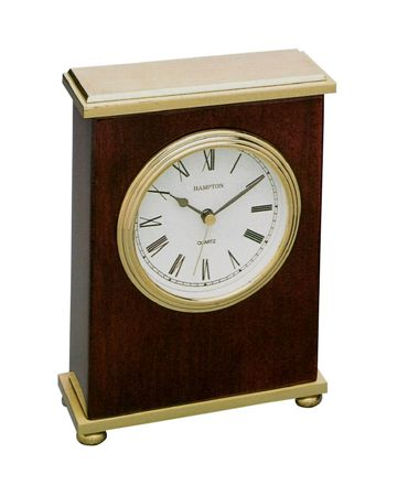 Hampton Haddon Mahogany Desk Clock