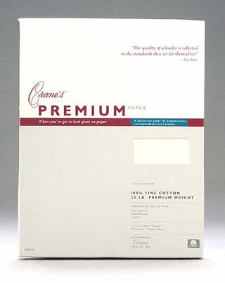 Crane Full Size Sheets 8 1/2 X 11 50/Pack