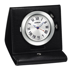 Montblanc Palladium Plated Travel Alarm Clock