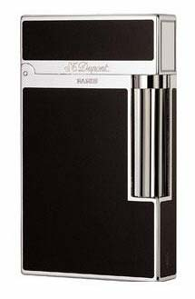 Dupont Black Lacquer and Palladium Ligne 2 Lighter