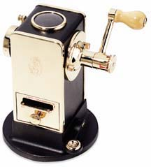 El Casco Black and Gold Pencil Sharpener
