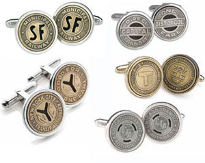 Tokens and Icons Subway Token Cufflinks